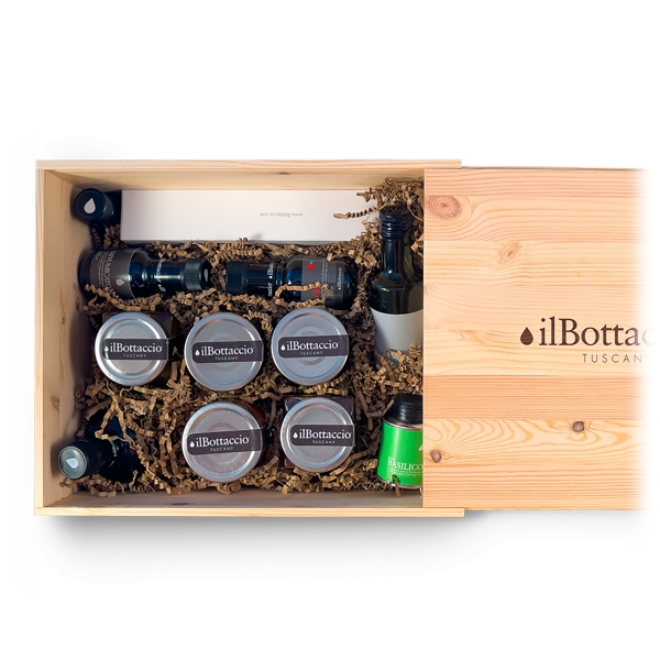 Il Bottaccio - Maxi Gourmet Gift Box - Tuscan Extra Virgin Olive Oil - Gift Ideas - Italian - High Quality