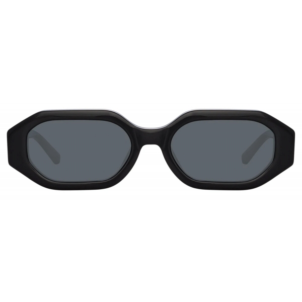 The Attico - Irene Angular Sunglasses in Black - ATTICO14C1SUN - Sunglasses - Official - The Attico Eyewear by Linda Farrow