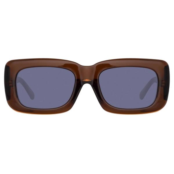 The Attico - Marfa Rectangular Sunglasses in Blue - ATTICO3C12SUN - Sunglasses - Eyewear by Linda Farrow