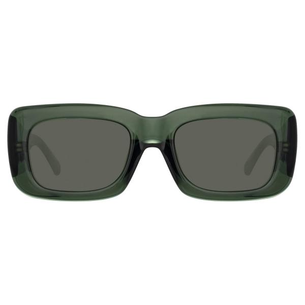 The Attico - Marfa Rectangular Sunglasses in Green - ATTICO3C13SUN - Sunglasses - Eyewear by Linda Farrow