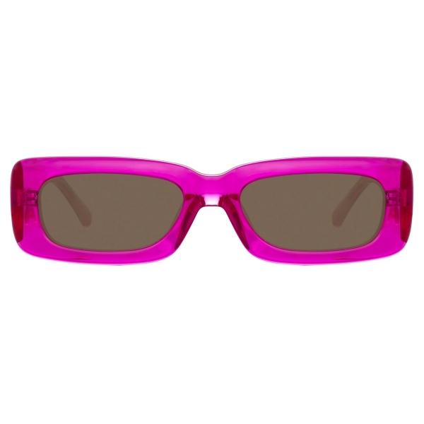 The Attico - Mini Marfa in Fucshia - ATTICO16C7SUN - Sunglasses - Eyewear by Linda Farrow