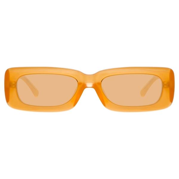 The Attico - Mini Marfa in Orange - ATTICO16C8SUN - Sunglasses - Eyewear by Linda Farrow
