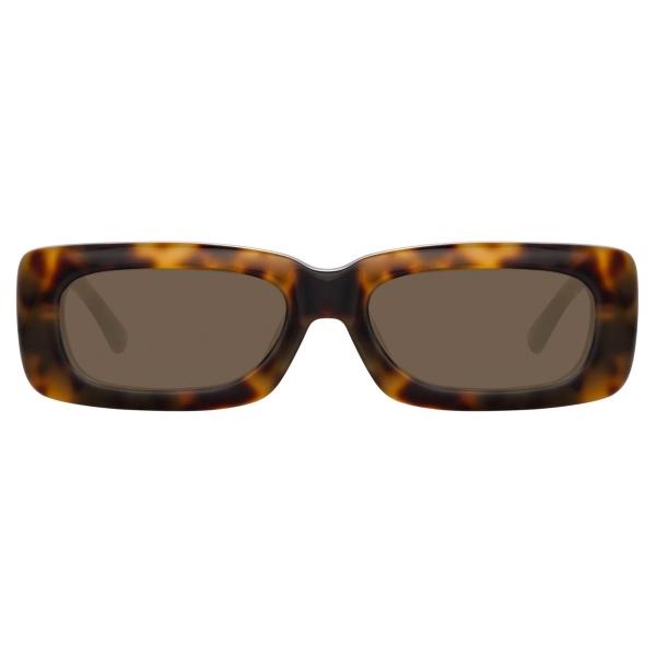 The Attico - Mini Marfa in Tortoiseshell - ATTICO16C6SUN - Sunglasses - Eyewear by Linda Farrow