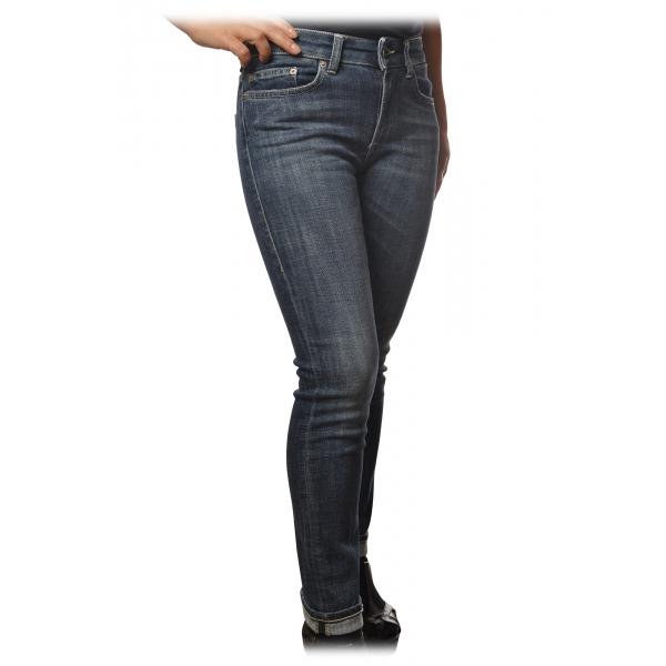 Dondup - Jeans Cinque Tasche Monroe - Denim Scuro - Pantalone - Luxury Exclusive Collection