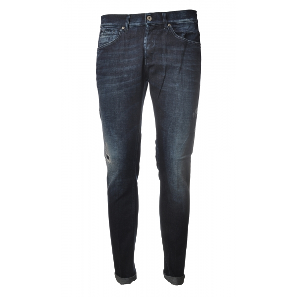Dondup - Five Pocket Jeans George Model - Dark Denim - Trousers - Luxury Exclusive Collection