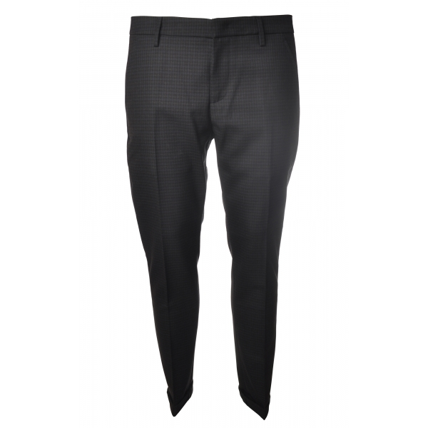 Dondup - Trousers Gaubert Model - Black/Blue - Trousers - Luxury Exclusive Collection