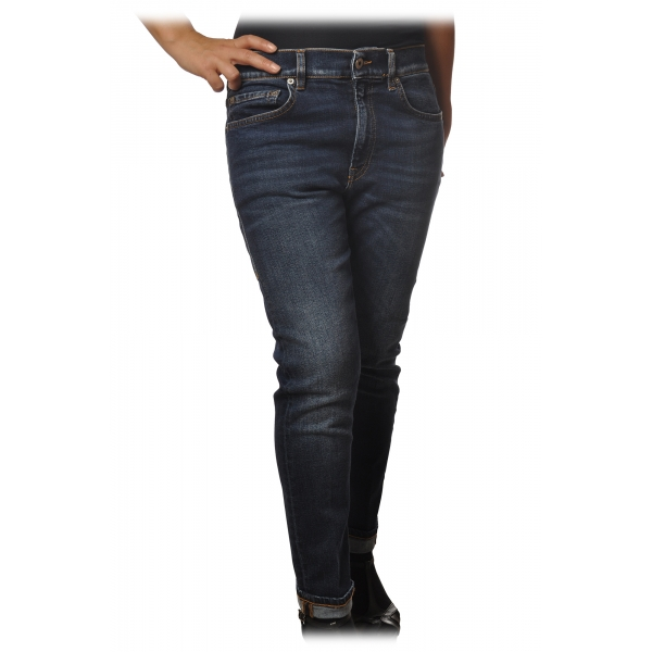 Dondup - Five Pocket Jeans Mila Model - Dark Denim - Trousers - Luxury Exclusive Collection