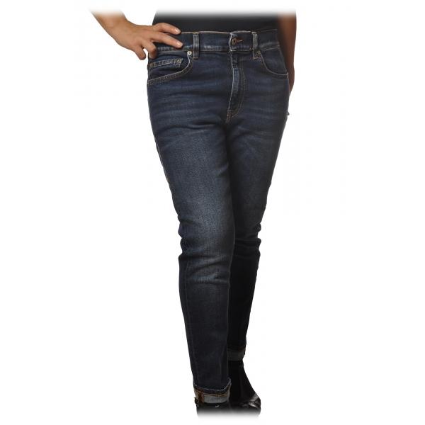 Dondup - Jeans Cinque Tasche Modello Mila - Denim Scuro - Pantalone - Luxury Exclusive Collection
