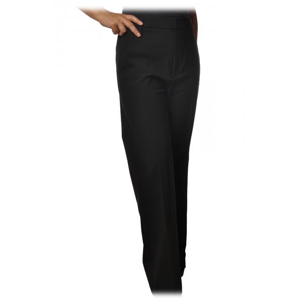 Dondup - Pantalone Modello Talisa con Gamba a Palazzo - Nero - Pantalone - Luxury Exclusive Collection