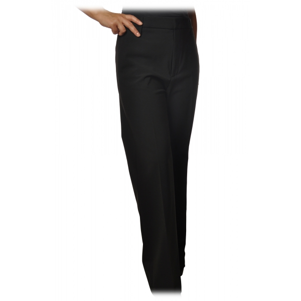 Dondup - Trousers Model Talisa with Palazzo Leg - Black - Trousers - Luxury Exclusive Collection