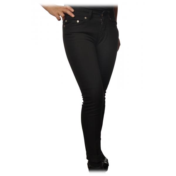 Dondup - Jeans Modello Monroe Gamba Stretta - Nero - Pantalone - Luxury Exclusive Collection