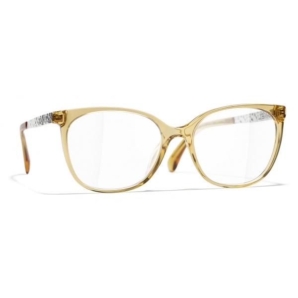 Chanel - Occhiali da Vista Quadrati - Giallo - Chanel Eyewear