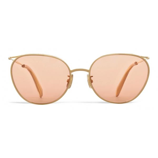 Céline - Occhiali da Sole con Montatura in Metallo 11 con Lenti Glitter - Oro Rosa - Occhiali da Sole - Céline Eyewear