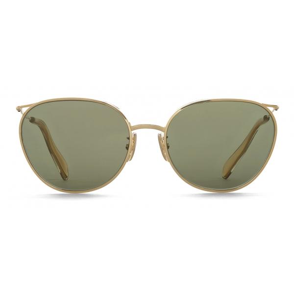 Céline - Metal Frame 11 Sunglasses with Mineral Glass Lenses - Gold Green - Sunglasses - Céline Eyewear
