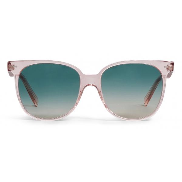Céline - Occhiali da Sole Oversized S022 in Acetato - Rosa Confetto Trasparente - Occhiali da Sole - Céline Eyewear