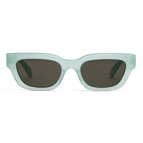 Céline - Rectangular S192 Sunglasses in Acetate - Milky Water Green - Sunglasses - Céline Eyewear