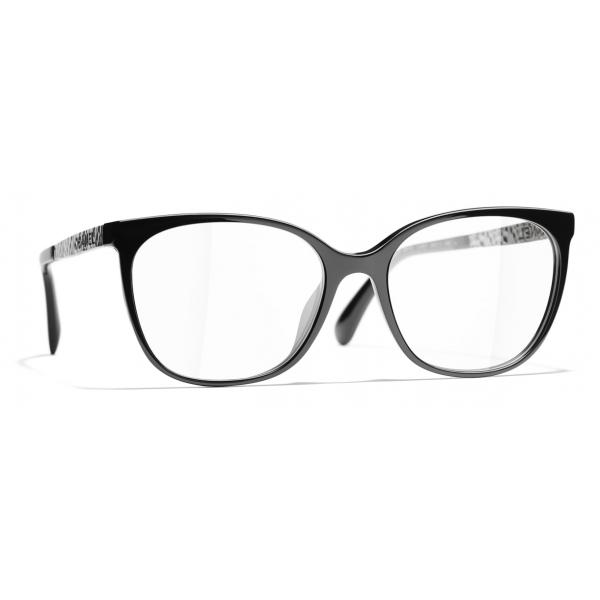 Chanel - Occhiali da Vista Quadrati - Nero - Chanel Eyewear