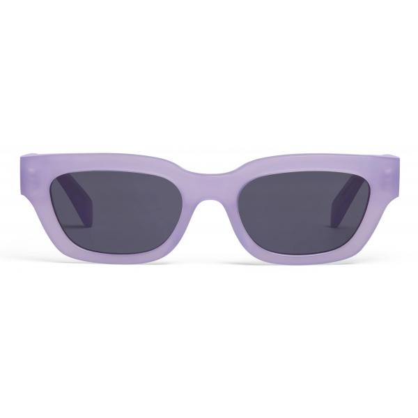 Céline - Occhiali da Sole Rettangolari S192 in Acetato - Lilla Opalescente - Occhiali da Sole - Céline Eyewear