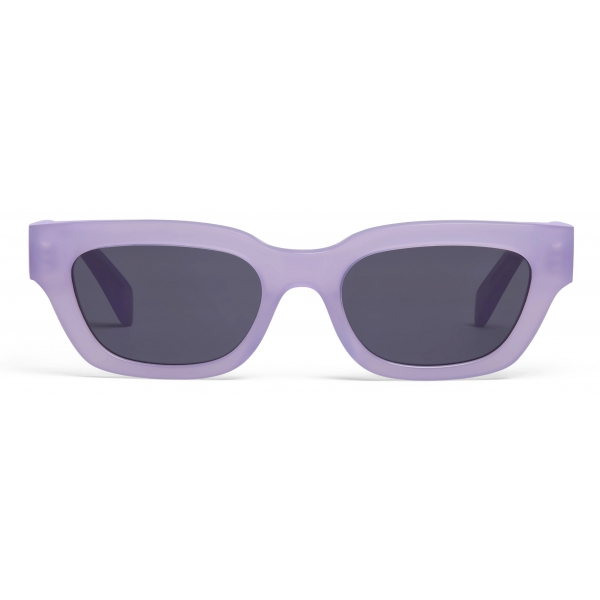 Céline - Rectangular S192 Sunglasses in Acetate - Milky Lilac - Sunglasses - Céline Eyewear
