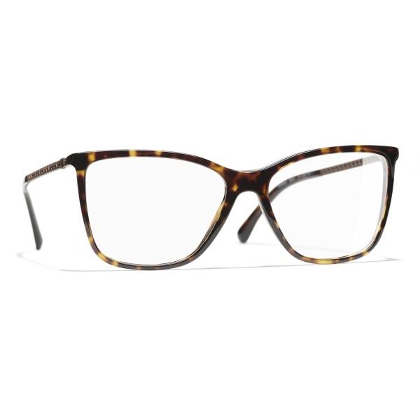 Chanel - Occhiali da Vista Rettangolari - Tartaruga Scuro - Chanel Eyewear