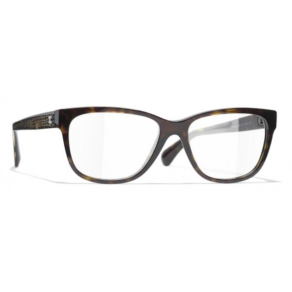 Chanel - Rectangular Eyeglasses - Dark Tortoise - Chanel Eyewear