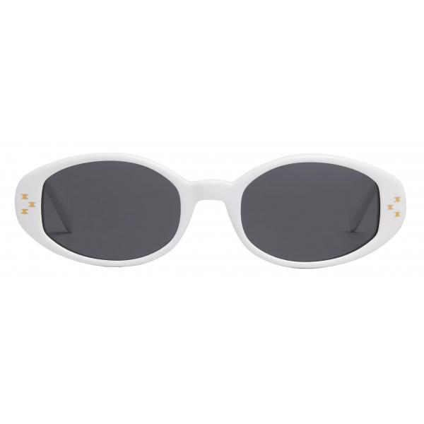 Céline - Oval S212 Sunglasses in Acetate - White - Sunglasses - Céline Eyewear