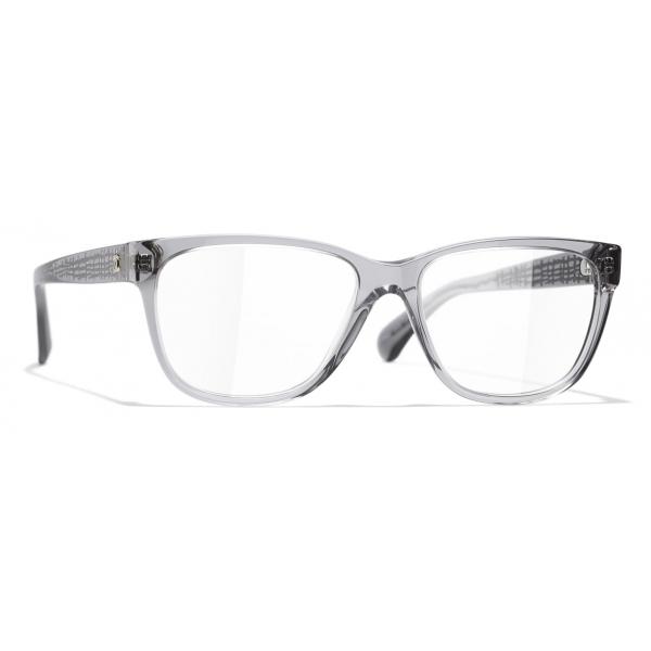 Chanel - Rectangular Eyeglasses - Gray - Chanel Eyewear
