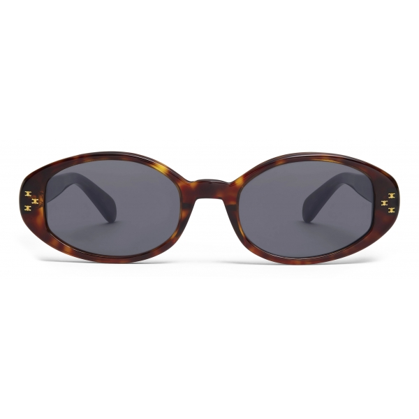 Céline - Occhiali da Sole Ovali S212 in Acetato - Avana Scuro - Occhiali da Sole - Céline Eyewear
