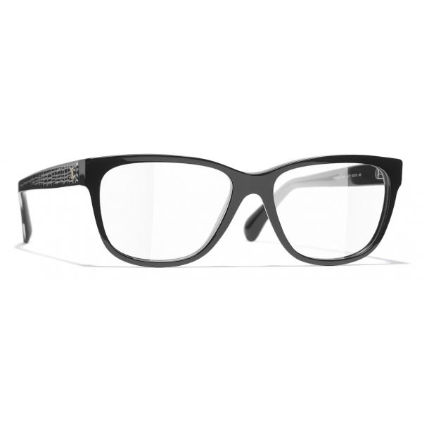 Chanel - Occhiali da Vista Rettangolari - Nero - Chanel Eyewear