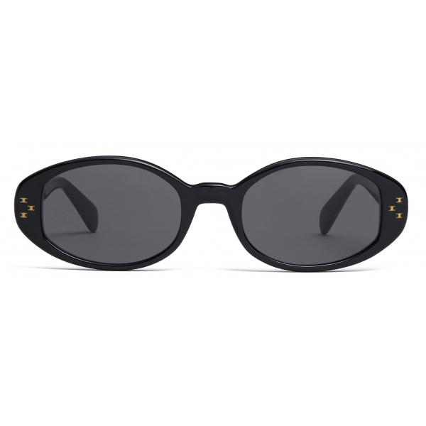 Céline - Occhiali da Sole Ovali S212 in Acetato - Nero - Occhiali da Sole - Céline Eyewear