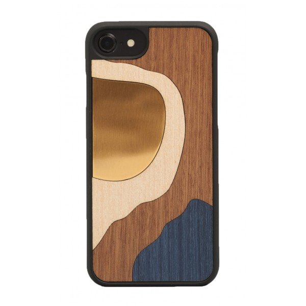 Wood'd - Bronze Blue Cover - iPhone 7 - Wooden Cover - Bronze Classics
