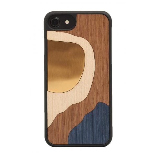 Wood'd - Bronzo Blu Cover - iPhone 8 / 7 - Cover in Legno - Bronze Classics