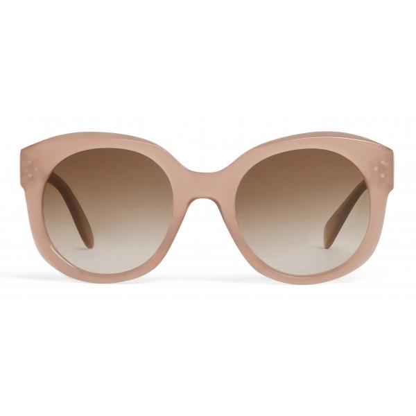 Céline - Occhiali da Sole Rotondi S186 in Acetato - Nocciola Opalescente - Occhiali da Sole - Céline Eyewear