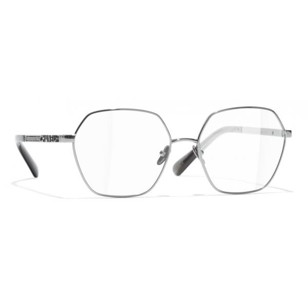 Chanel - Occhiali da Vista Rotondi - Argento Scuro - Chanel Eyewear
