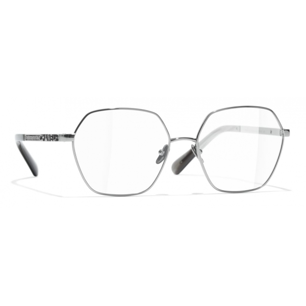 Chanel - Round Eyeglasses - Dark Silver - Chanel Eyewear