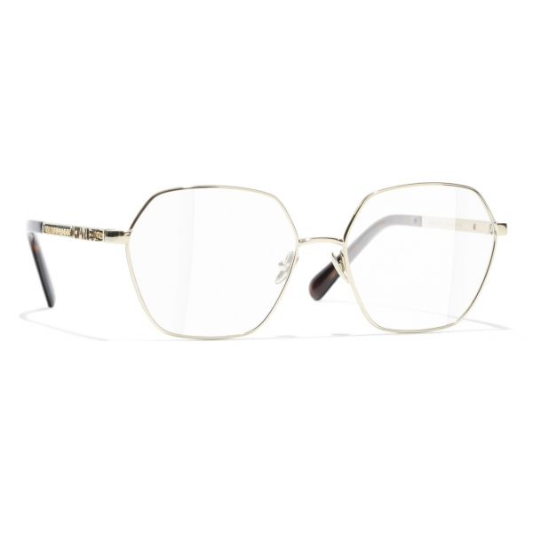 Chanel - Occhiali da Vista Rotondi - Oro - Chanel Eyewear