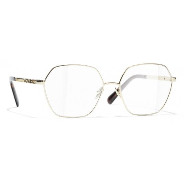 Chanel - Round Eyeglasses - Gold - Chanel Eyewear