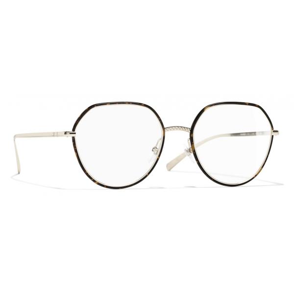 Chanel - Occhiali da Vista Rotondi - Oro Tartaruga - Chanel Eyewear