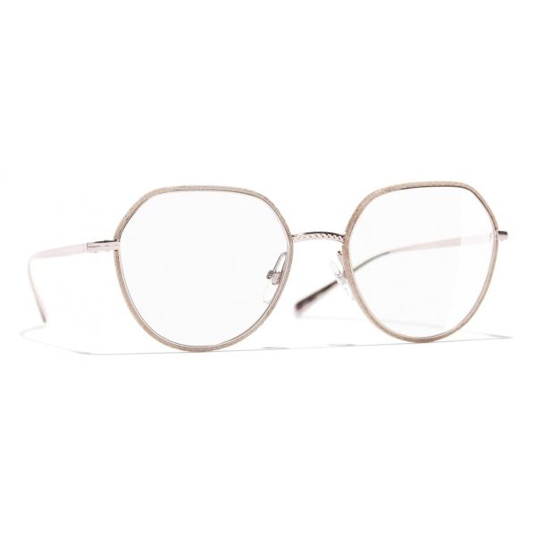 Chanel - Occhiali da Vista Rotondi - Rosa - Chanel Eyewear
