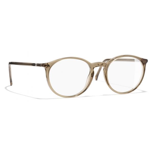 Chanel - Occhiali da Vista Pantos - Marrone Trasparente - Chanel Eyewear