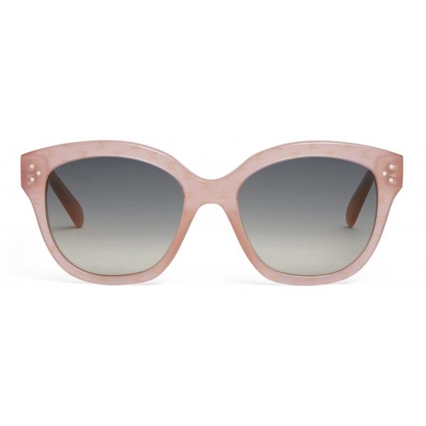 Céline - Occhiali da Sole Squadrati S167 in Acetato  con Motivo Triomphe - Rosa Opalescente - Occhiali da Sole - Céline Eyewear
