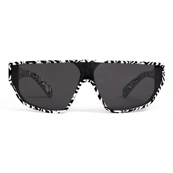 Céline - Black Frame 32 Sunglasses in Acetate - Zebra - Sunglasses - Céline Eyewear