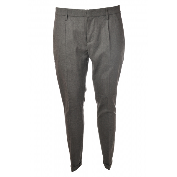 Dondup - Trousers Gaubert Pinces Model - Grey - Trousers - Luxury Exclusive Collection