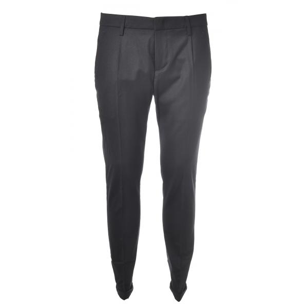 Dondup - Pantalone in Lana Modello Gaubert Pinces - Blu - Pantalone - Luxury Exclusive Collection