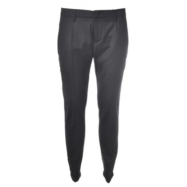 Dondup - Trousers Gaubert Pinces Model - Blue - Trousers - Luxury Exclusive Collection