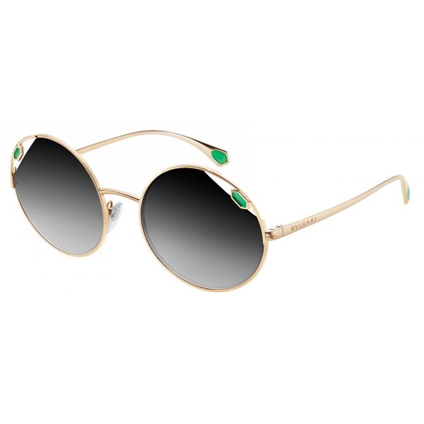 Bulgari - Serpenti - True Colors Round Metal Sunglasses - Gold Black - Serpenti Collection - Sunglasses - Bulgari Eyewear