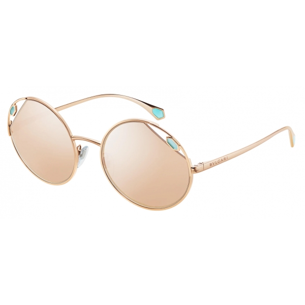 Bulgari - Serpenti - True Colors Round Metal Sunglasses - Gold - Serpenti Collection - Sunglasses - Bulgari Eyewear