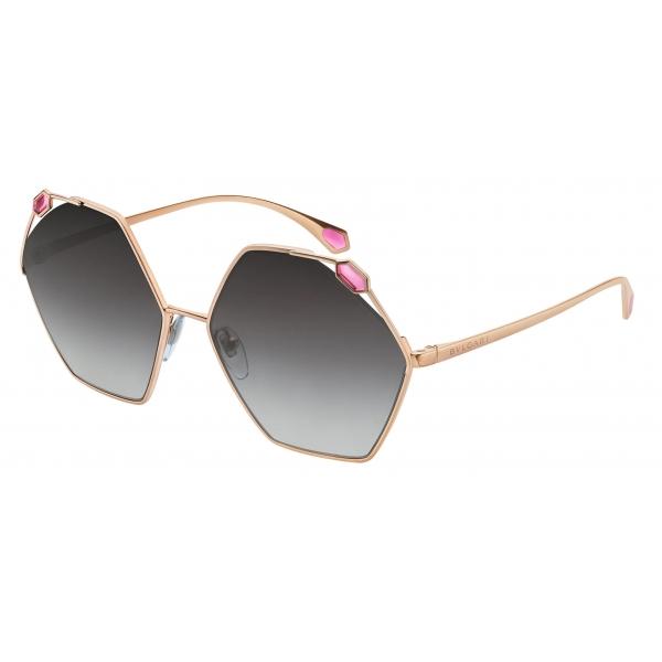 Bulgari - Serpenti - True Colors Round Metal Sunglasses - Gold Grey - Serpenti Collection - Sunglasses - Bulgari Eyewear