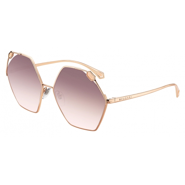 Bulgari - Serpenti - True Colors Round Metal Sunglasses - Rose Gold Grey - Serpenti Collection - Sunglasses - Bulgari Eyewear