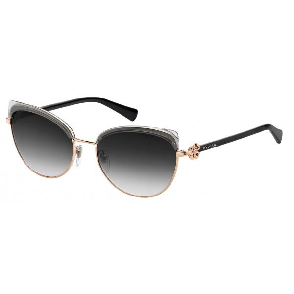 Bulgari - Forever - Forever Metal Cat-Eye Sunglasses - Black Gold - Forever Collection - Sunglasses - Bulgari Eyewear